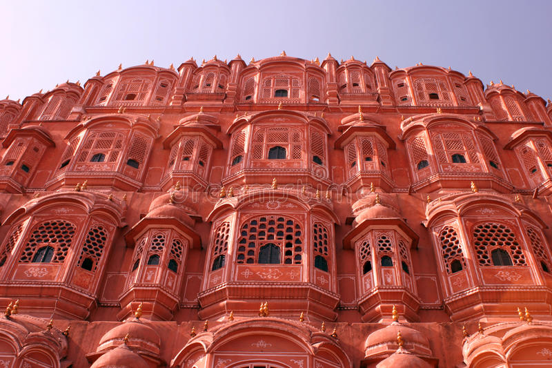 Palace of winds, Jaipur. Beautiful Palace of Winds, Jaipur, India, a famous tourist attraction and Indian architecture royalty free stock photo