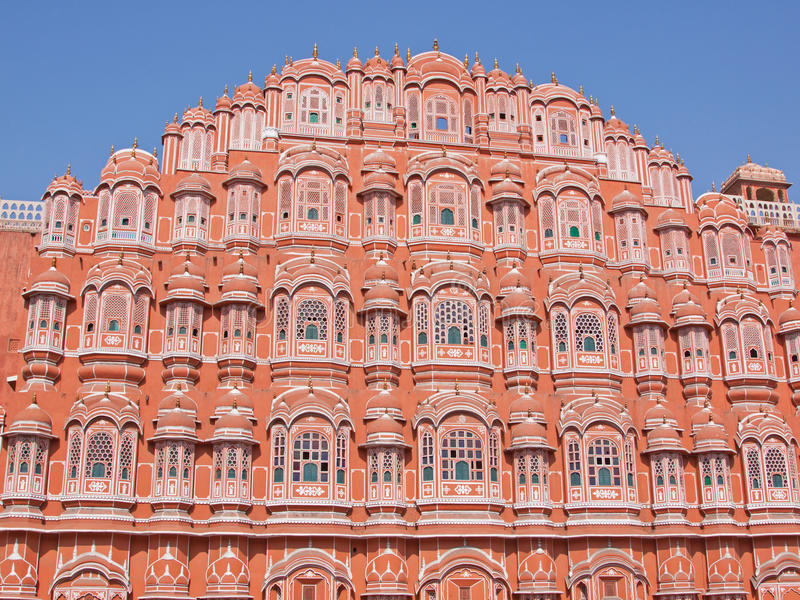 The Palace of the Winds at Jaipur, India. The Hawa Mahal (Palace of the Winds) in the Sireh Deori area in the centre of Jaipur, India. It was built in 1799 to stock photos