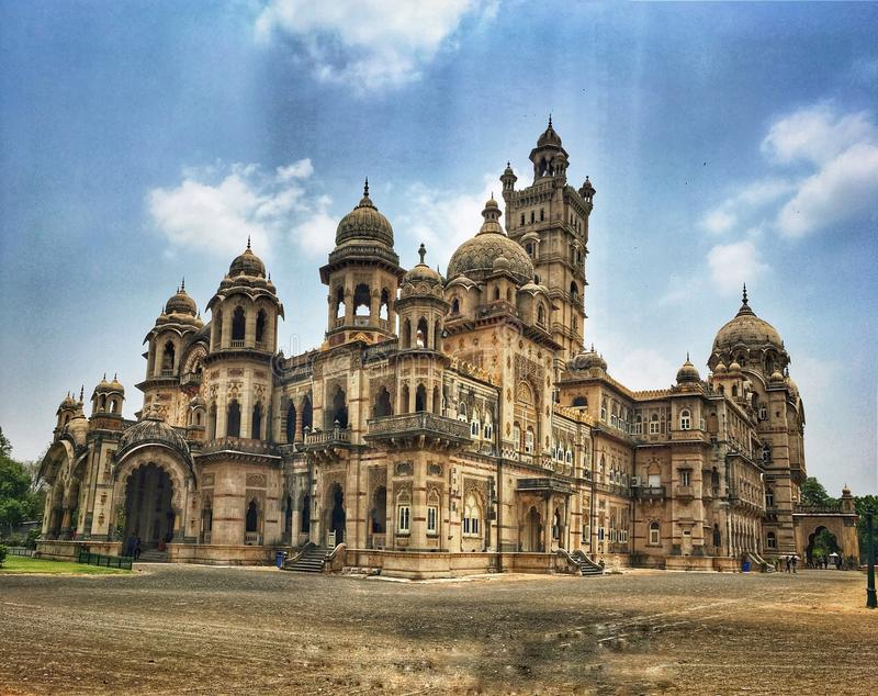 Palaces of India. Lakshmi Vilas palace, Baroda stock image