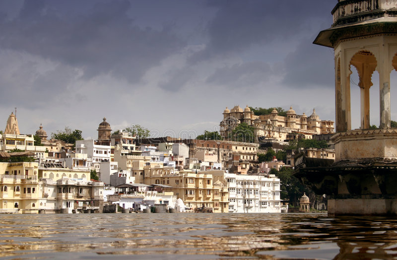 Palaces in Udaipur stock image