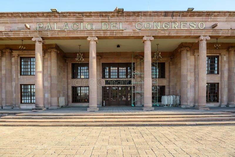 Palacid del congreso i Saltillo, Mexico arkivbild