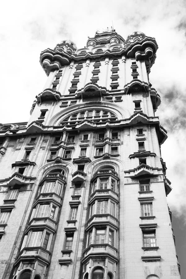 Palacio齐射,蒙得维的亚,乌拉圭 免版税库存图片
