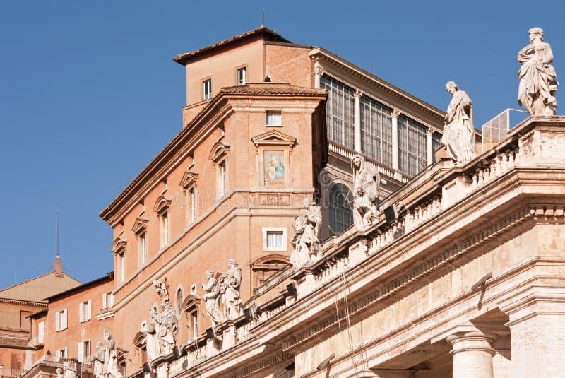 Palacio apostólico imagen de archivo libre de regalías