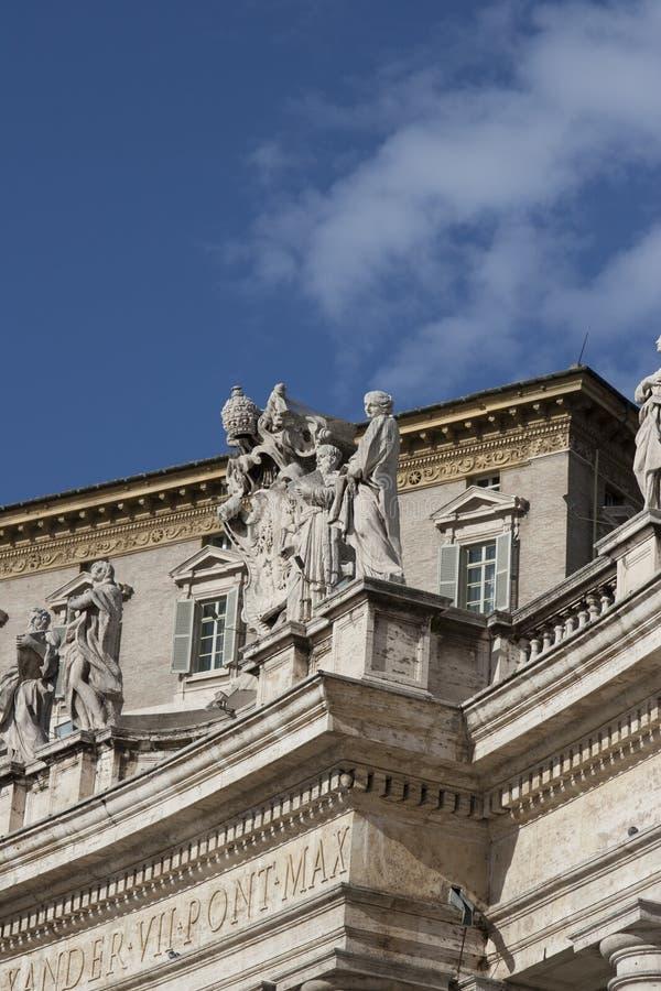 Palacio apostólico imagen de archivo