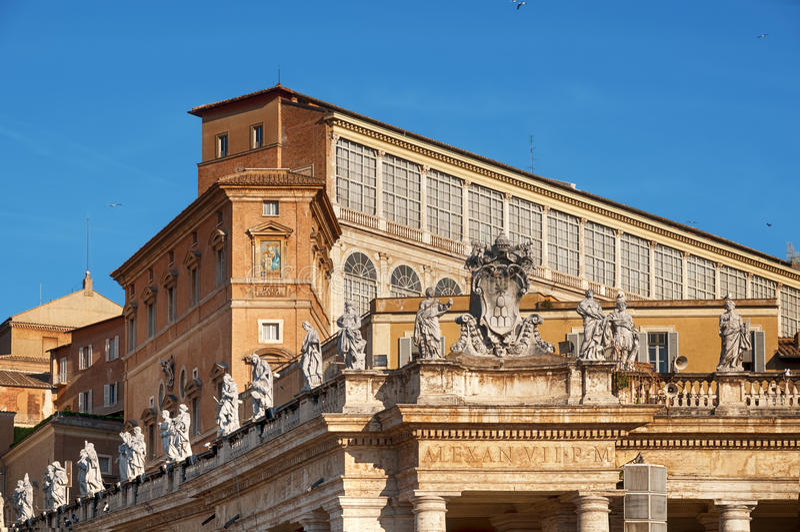 Palacio apostólico, Ciudad del Vaticano fotografía de archivo libre de regalías