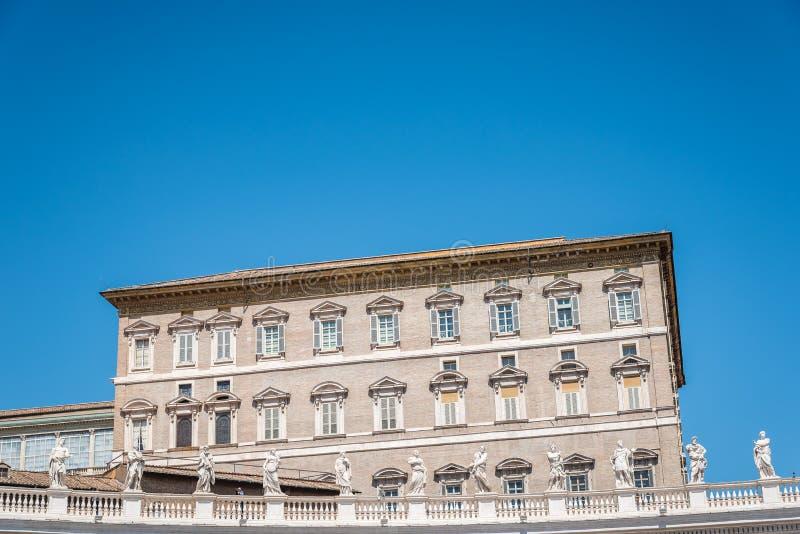 Palacio apostólico en el Vaticano del cuadrado foto de archivo