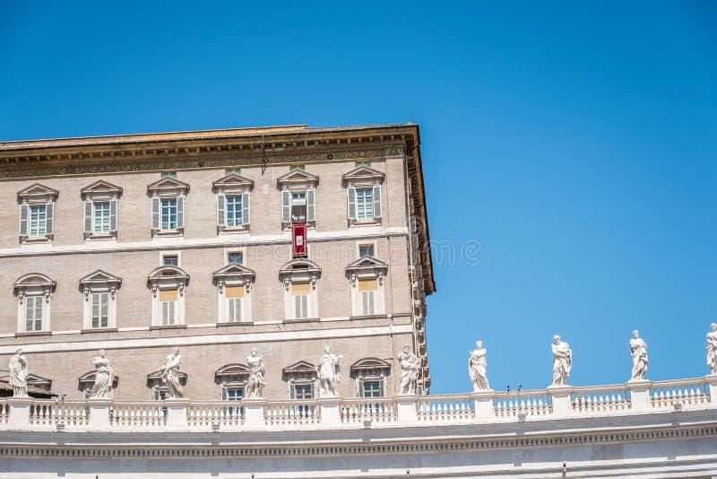 Palacio apostólico en el Vaticano del cuadrado fotografía de archivo libre de regalías
