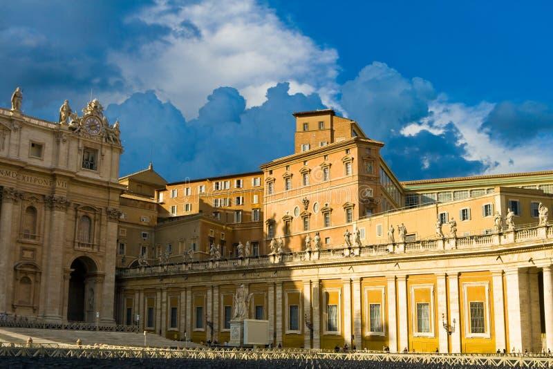 Palacio apostólico. Roma, Italia imagen de archivo