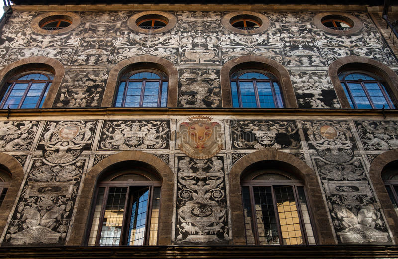 Palacio atractivo de Florencia fotografía de archivo