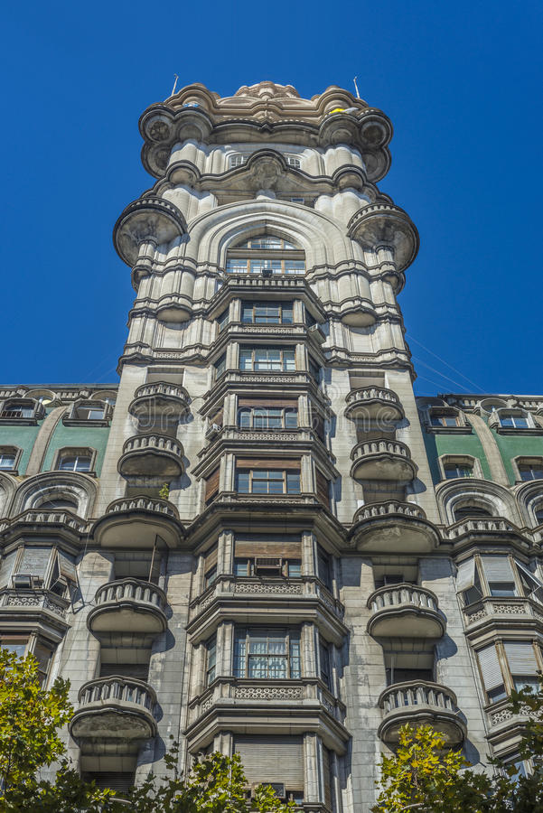 Palacio Barolo in Buenos Aires, Argentina. Palacio Barolo building on Mayo Avenue in Buenos Aires, Argentina royalty free stock image