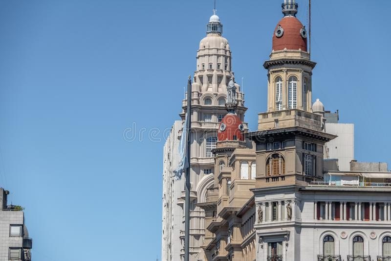 Barolo Palace and La Inmobiliaria buildings - Buenos Aires, Argentina royalty free stock photo