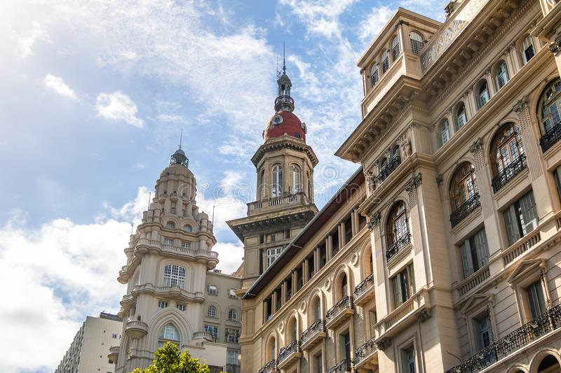 Barolo Palace and La Inmobiliaria buildings - Buenos Aires, Argentina royalty free stock image