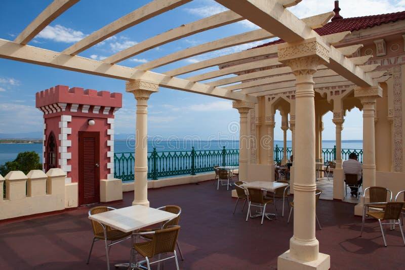 Palacio bonito de Valle em Cienfuegos perto do hotel de Jagua, Cuba fotos de stock