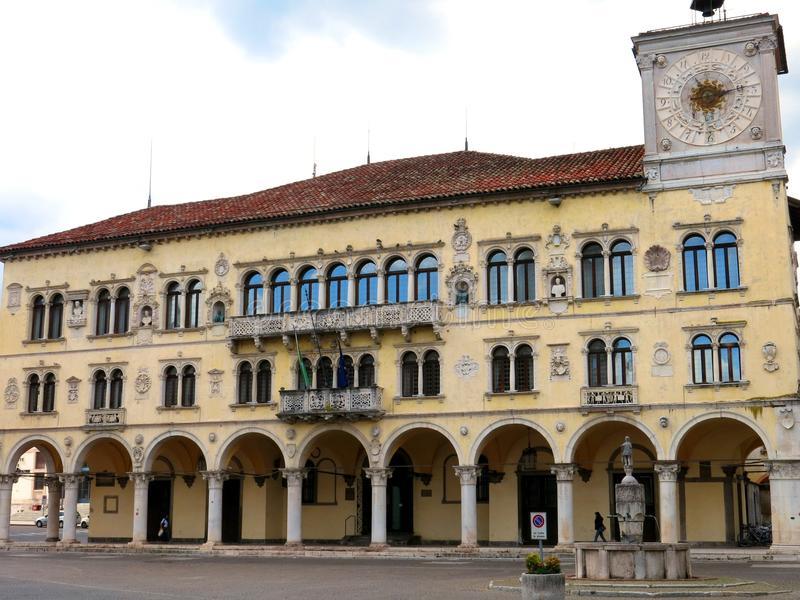 Palacio capital del castillo de Belluno fotos de archivo libres de regalías