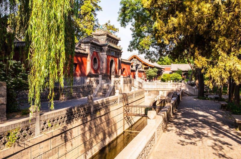 Palacio conmemorativo de escena-Wenchang del templo de Jinci (museo) foto de archivo libre de regalías