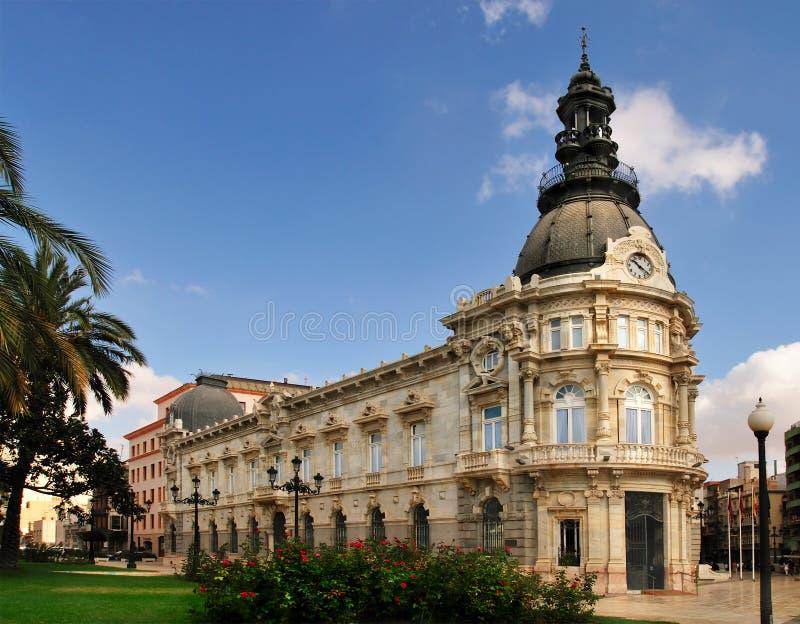 Palacio Consistoriaal Cartagena royalty-vrije stock foto