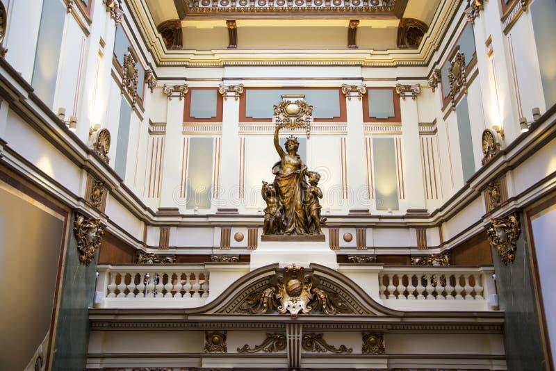 Palacio cooperativo de Belgrado en Serbia imagen de archivo libre de regalías