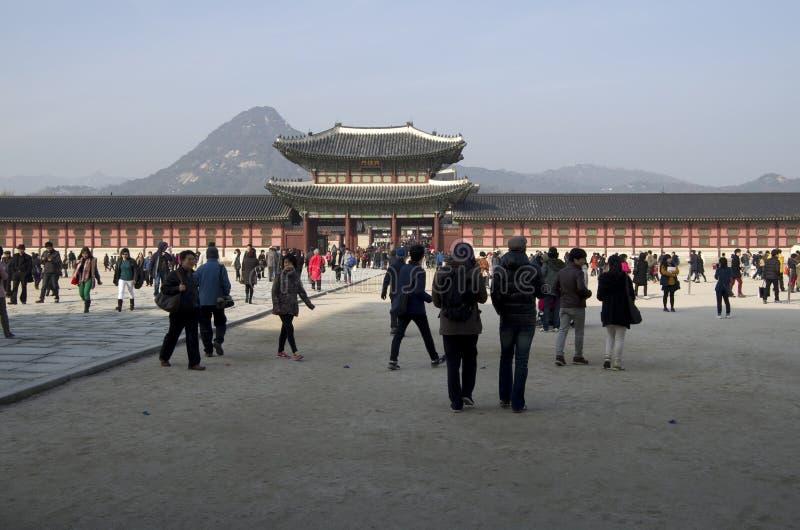 Palacio Corea de Gyeongbokgung fotos de archivo libres de regalías