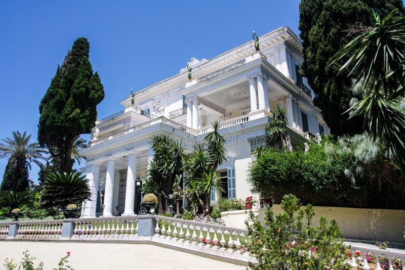Palacio Corfú Grecia de Achilleion imagen de archivo