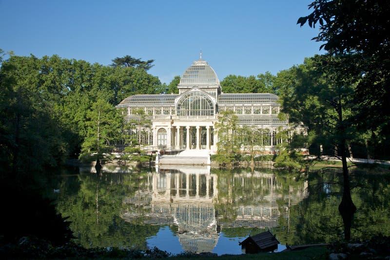 Palacio cristalino de Madrid fotos de archivo libres de regalías