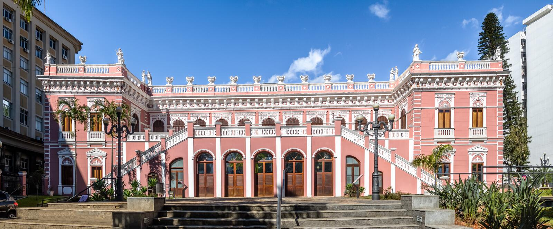 Palacio Cruz e Souza - Santa Catarina Historical Museum - Florianopolis, Santa Catarina, Brazilië royalty-vrije stock foto's