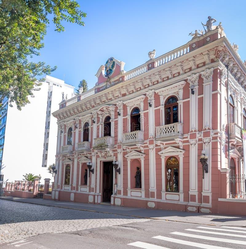 Palacio Cruz e Souza - Santa Catarina Historical Museum - Florianopolis, Santa Catarina, Brazilië stock afbeelding