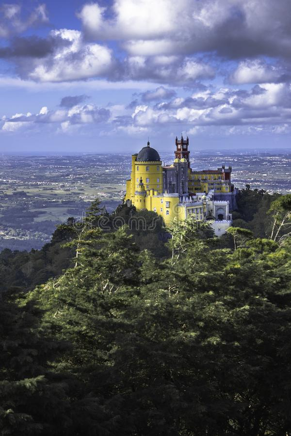 Palacio Da Pena Португалия стоковые изображения