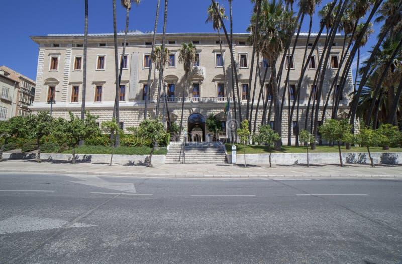 Palacio de Ла Aduana, Малага, Испания стоковые фото