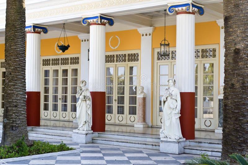 Palacio de Achilleion en la isla de Corfú foto de archivo libre de regalías