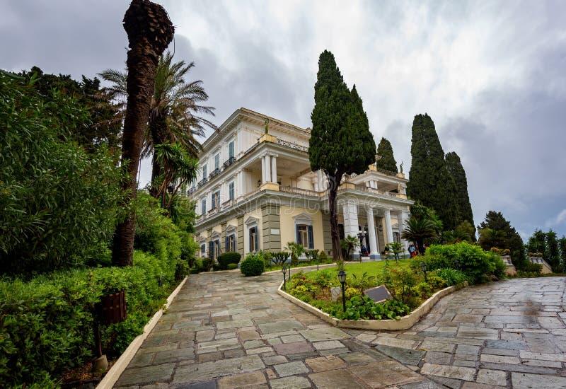 Palacio de Achilleion, Grecia imagen de archivo libre de regalías