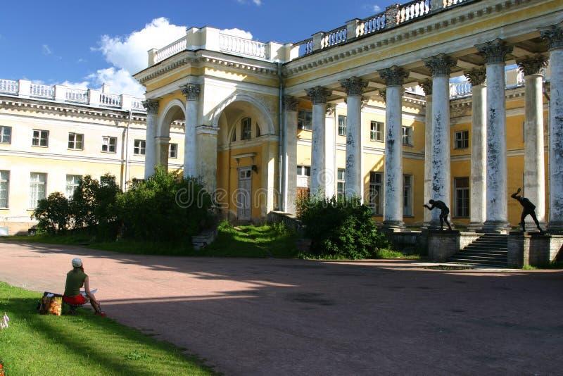 Palacio de Alexander en Tsarskoye fotografía de archivo