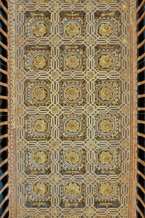 Palacio de Aljaferia en Zaragoza, España fotos de archivo