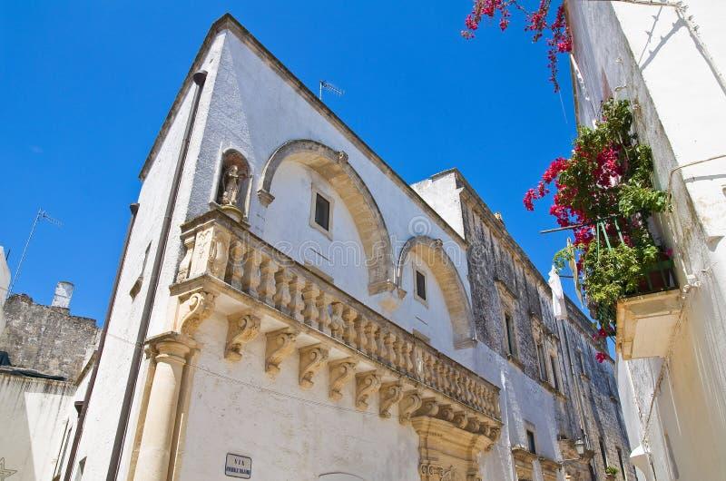 Palacio de Balsamo. Specchia. Puglia. Italia. imagen de archivo
