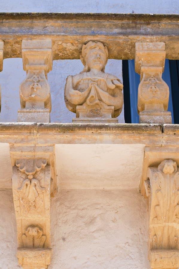 Palacio de Balsamo. Specchia. Puglia. Italia. fotos de archivo