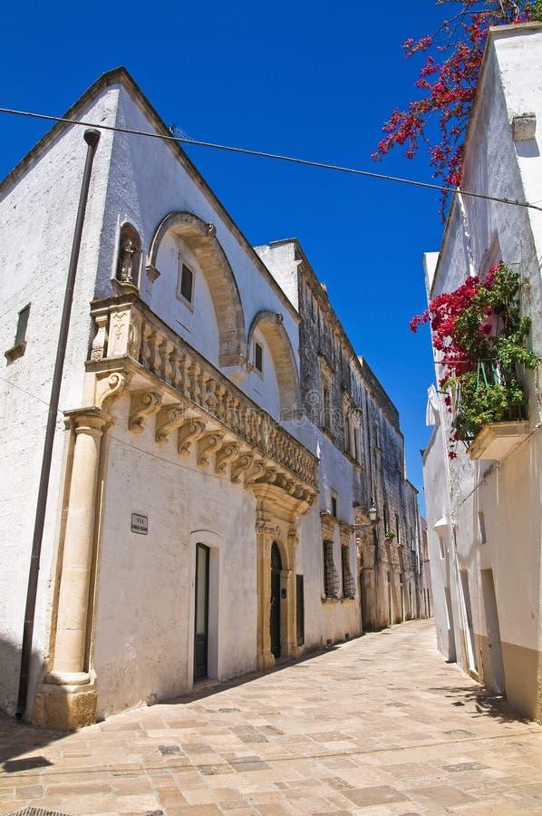 Palacio de Balsamo. Specchia. Puglia. Italia. imágenes de archivo libres de regalías