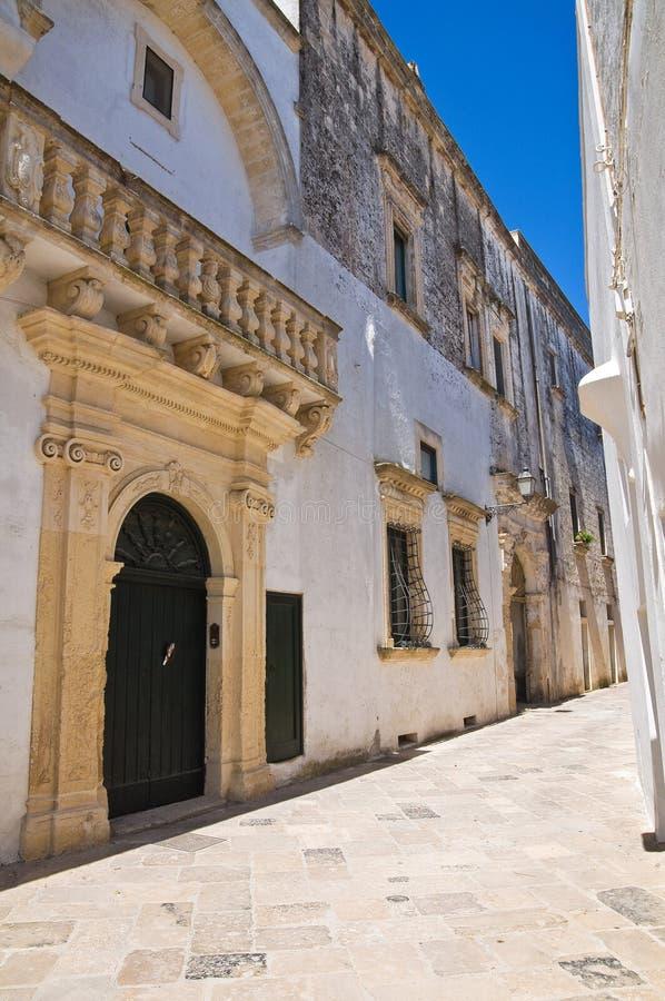 Palacio de Balsamo. Specchia. Puglia. Italia. imagenes de archivo