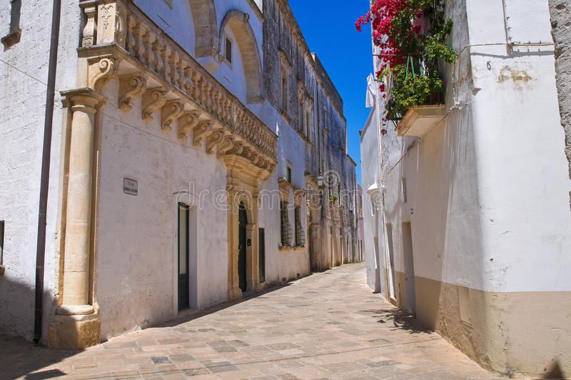 Palacio de Balsamo. Specchia. Puglia. Italia. fotografía de archivo