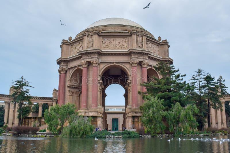 Palacio de bellas arte en San Francisco imagenes de archivo