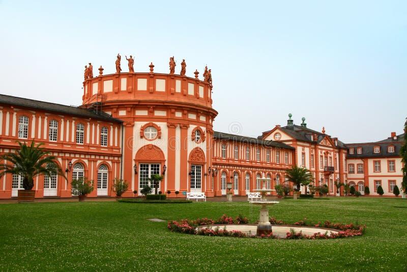 Palacio de Biebrich en Wiesbaden fotografía de archivo