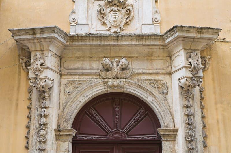 Palacio de Caputo. Tricase. Puglia. Italia. fotos de archivo