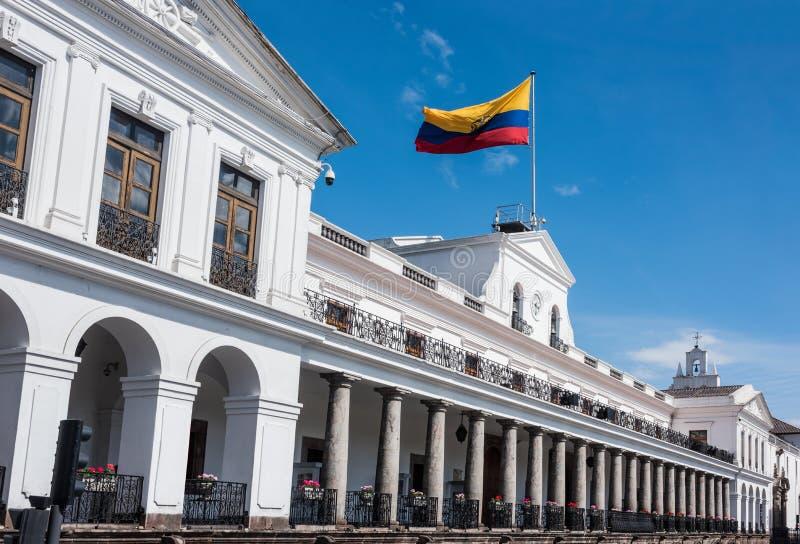 Palacio de Carondelet en Quito en el cuadrado de la independencia fotos de archivo libres de regalías