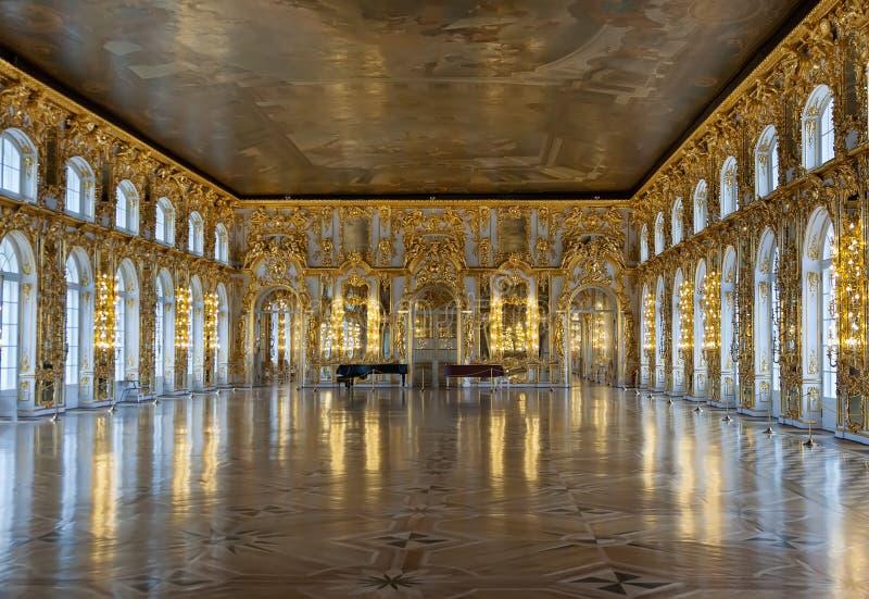 Palacio de Catherine del salón de baile foto de archivo libre de regalías