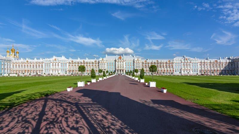 Palacio de Catherine en Tsarskoe Selo Pushkin, St Petersburg, Rusia imagen de archivo
