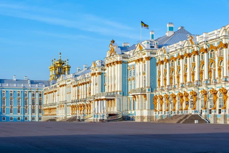 Palacio de Catherine en Tsarskoe Selo, Pushkin, St Petersburg, Rusia imagenes de archivo