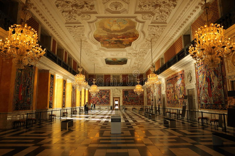 Palacio de Christiansborg imagenes de archivo