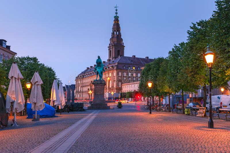 Palacio de Christiansborg, Copenhague, Dinamarca fotos de archivo