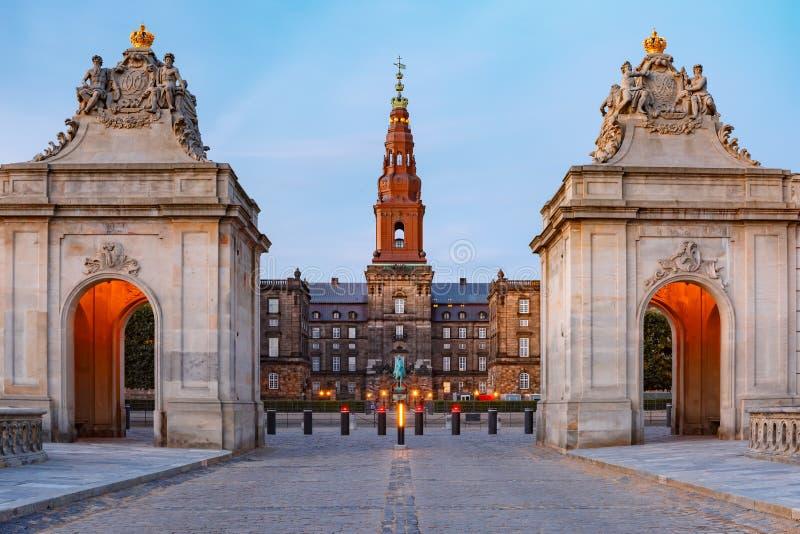 Palacio de Christiansborg en Copenhague, Dinamarca imagen de archivo