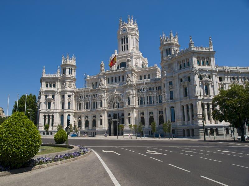 Palacio de Cibeles, Madrid imagen de archivo