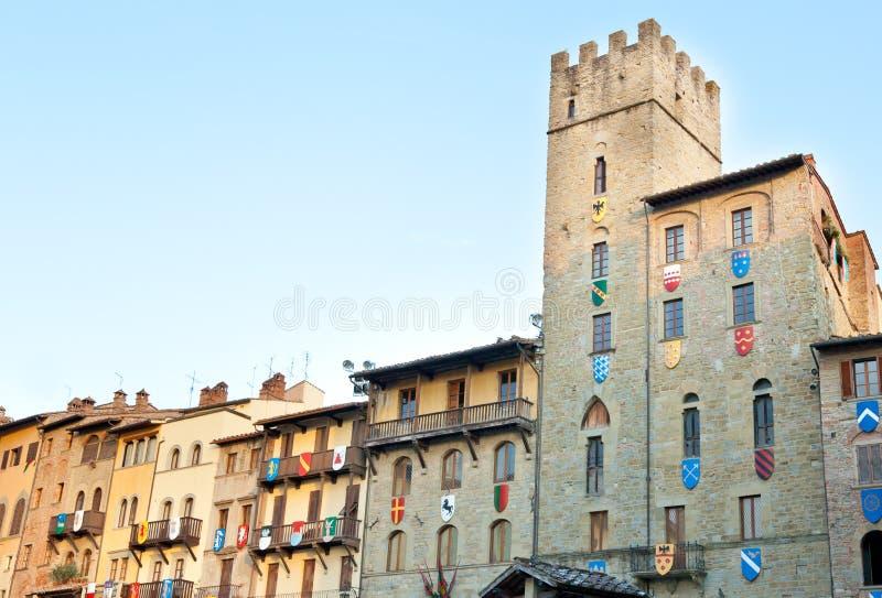 Palacio de Cofani Brizzolari en Arezzo, Italia fotografía de archivo libre de regalías