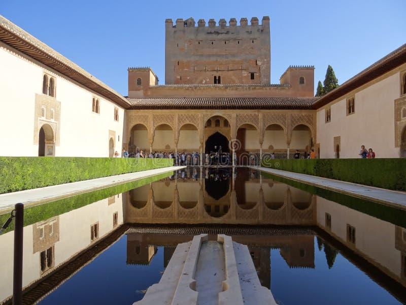 Palacio de Comares en Alhambra Granada, España fotos de archivo